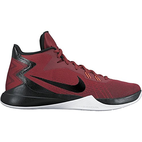 Nike Zoom Evidence Herren Basketballschuhe Rot (University Red/Metallic Silver/Black/Dark Grey/Gym Red)