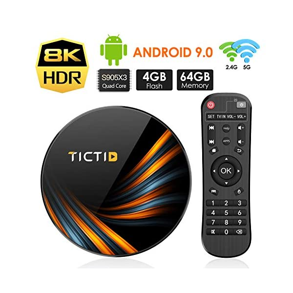 TICTID-Android-TV-Box-Android-904G64G-S905X3-Boitier-Android-TV-Bluetooth-40-TX6-Plus-Amlogic-S905X3-Quad-Core-Cortex-A55-Box-Android-TV-LAN1000M-Wi-FI-24G5G-TV-Box-8K
