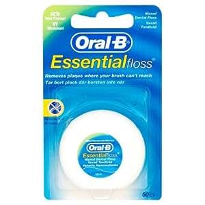 oral b lot de 4 essentials floss fil dentaire 50 m parfum. Black Bedroom Furniture Sets. Home Design Ideas