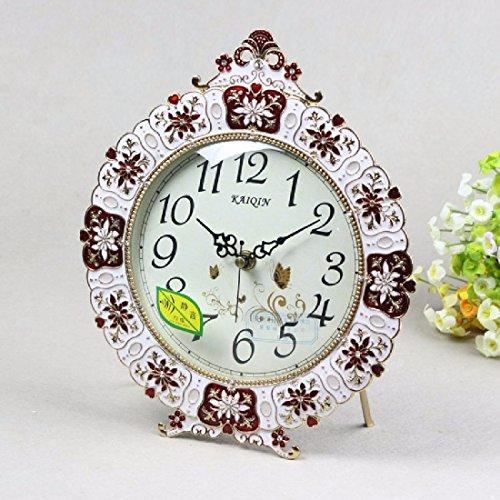 BBSLT Estilo Europeo Rural movimiento silencioso la reja de hierro forjado de metal metal segundo reloj reloj de péndulo