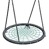 Columpio de arbol Asiento Giratorio para árbol de telaraña al Aire Libre de 40 Pulgadas, Ideal para Patio de Juegos, Patio y Sala de Juegos - Soporte 440 LB