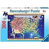 Ravensburger Usa Map - 300 Pieces Puzzle