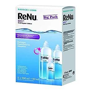 Bausch&Lomb ReNu MPS 2x360ml inkl. Reise-Set 1x60ml – Kontaktlinsen-Pflegemittel/Kombilösung für das Reinigen, Desinfizieren und Aufbewahren der Kontaktlinse (All-In-One Lösung)