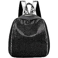 FBGood Mädchen Nylon Pailletten Rucksack Taschen Großer Kapazität Studenten Umhängetasche Handtasche Schulrucksack Satchel Draussen Reisetasche