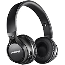 Mpow Thor - Auriculares Bluetooth de diadema plegable con micrófono y cable de Audio para Apple iPhone, PC, Mac y TV