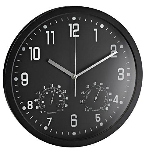 Alco Reloj Pared Redondo 35cm Termómetro higrómetro