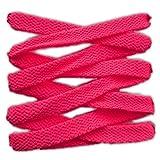 Lacci per calzature sportive, piatti, elevata qualità, 125 cm (rosa fucsia)