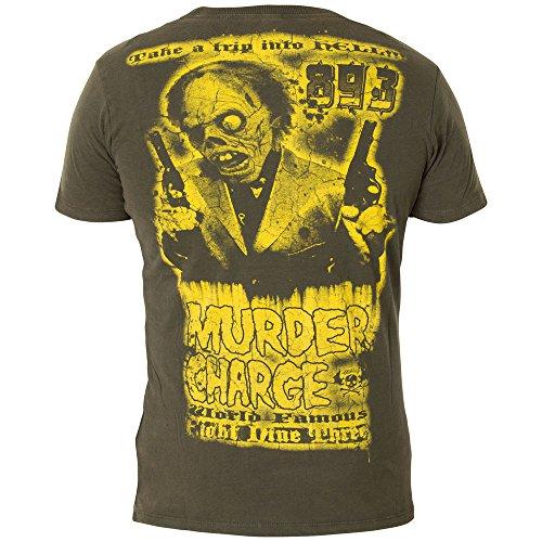 Yakuza T-Shirt TSB-408 Dunkelgrün Grün