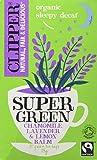 Clipper Organic Super Green Sleepy Decaf (Chamomile, Lavendar & Lemon Balm) Teabags (Pack of 4, Total 80)