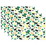 GOODSTHING napperon, Saint Patricks Day Placemats for Dining Table Heat Resistant...