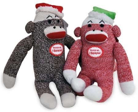 Multipet Christmas Sock Monkey Dog Toy by Multi Pet (Christmas Sock Monkey)