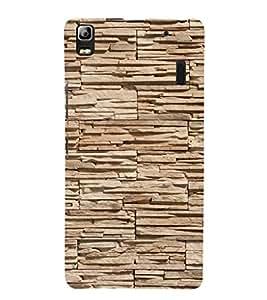 EPICCASE Pebble brick wall Mobile Back Case Cover For Lenovo K3 Note (Designer Case)