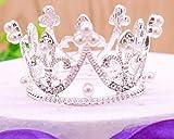 Runde Mädchen Crown Baby Krone Perle Kristall Mini Tiara Haarschmuck Schmuck