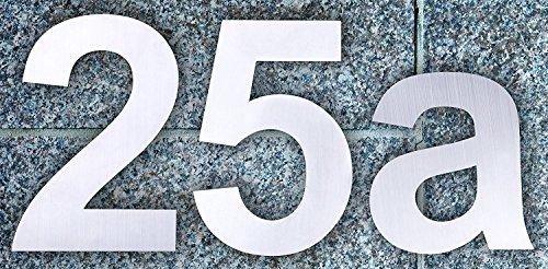 QT Moderne Hausnummer -Größe: 20 Zentimeter (Nummer 2 / Zwei) GROß, Gebürsteter Edelstahl - 4