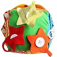 YeahiBaby Cubo de Actividades para bebés Juguete de Peluche - Juguete de Desarrollo Educativo Suave