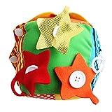 Yeahibaby Juguete de Felpa de Tela de Cubo de Actividad de bebé - Juguete de Desarrollo Educativo Suave