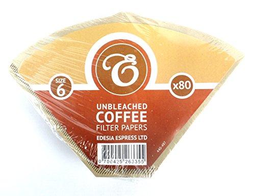 EDESIA ESPRESS - Kaffee-Filtertüten - ungebleicht - Größe 6 - 80 Stück