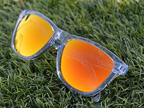 MZM Polarisierte Ersatzgläser für Oakley Frogskins (wählen Sie die Farbe) (Orange, Fire Iridium)