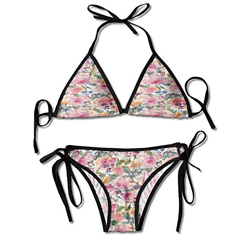 Orchid Underwire (Bikini Swimsuit 2 Pieces Set,Flowers Florals Roses Orchids Sexy Bikini 2 Pieces)