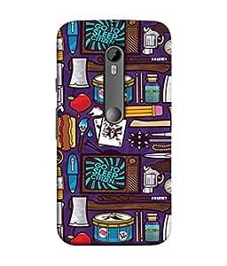 PrintVisa Graphic River Travel Doodles 3D Hard Polycarbonate Designer Back Case Cover for Motorola Moto G3 :: Motorola Moto G (3rd Gen) :: Motorola Moto G3 Dual SIM