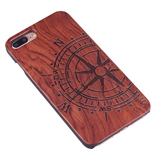 Hülle für iPhone 7 plus , Schutzhülle Für iPhone 7 Plus Artistic Carving Muster Rosewood + PC Bordure Schutzmaßnahmen zurück Fall Shell ,hülle für iPhone 7 plus , case for iphone 7 plus ( SKU : Ip7p14 Ip7p1451j