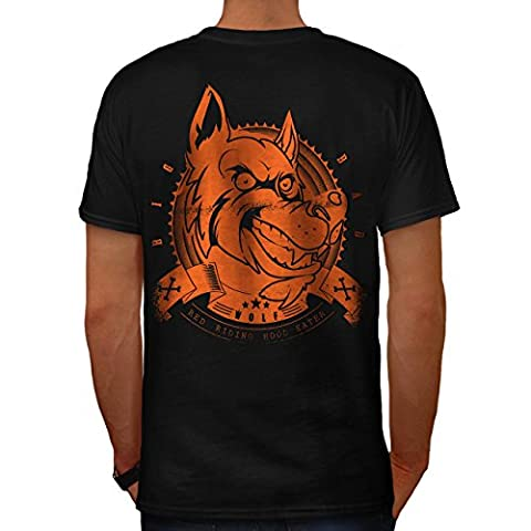 Furieux Chien Bête Sauvage Animal Fou Pack Homme S T-shirt le dos | Wellcoda
