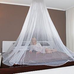 JAROLIFT Mosquitera para cama con dosel, 1250 x 250 cm (color blanco)