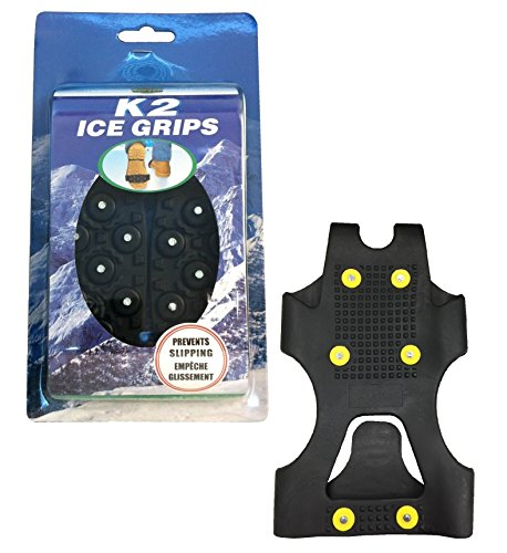 Moneysworth & Best Men's Double Traction Himalaya Ice Grips (Black, 11.5 to 13, X-Large)