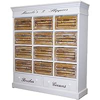Comparador de precios Casa-Padrino Country Style Shoe Cabinet Antique White/Natural 120 x 34 x H. 131 cm - Country Style Furniture - precios baratos