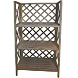 Garten Stufengestell Regal Ablage Pflanzregal Etagere Holz natural washed 145 cm