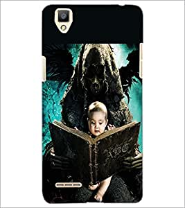PRINTSWAG BABY WITH GHOST Designer Back Cover Case for OPPO F1