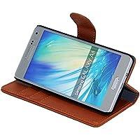Gecko® Samsung Galaxy A5 Housse etui portefeuille - Brun - housse solide avec protection maximale / multifunctionnel grâce à la design portefeuille de couleur brun