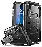 i-Blason Coque iPhone XR, Coque Anti-Choc avec Protecteur d'écran Intégré et Béquille [Protection Intégrale Robuste][Série Armorbox] pour Apple iPhone XR 6,1 Pouces 2018 (Noir)