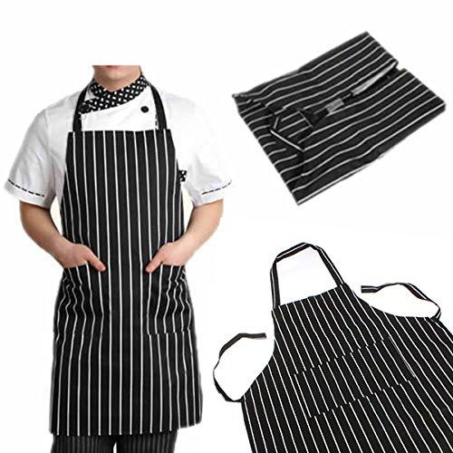 SOLEDI Schürze Kochschürze Streifen Latzschürze Gastronomie Grillschürze Küchenschürze