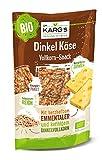 Dr. Karg Bio Dinkel-Käse Knäcke Snack (Vollkorn), 10er Pack (10 x 110 g Beutel) - Bio
