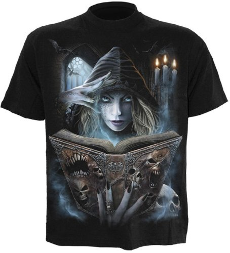 Spiral Book of Flesh T - Shirt Celtic Fairy - Unisex, schwarz