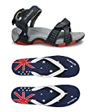#7: Combo Globalite Men's Outdoor Sandals / Flip-Flops and House Slippers (1 Pair Sandal and 1 Pair Slipper)