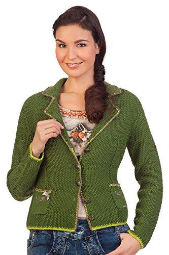 Damen Trachten Strickjacke - WERONIKA - rot, grasgrün, Größe XXXL