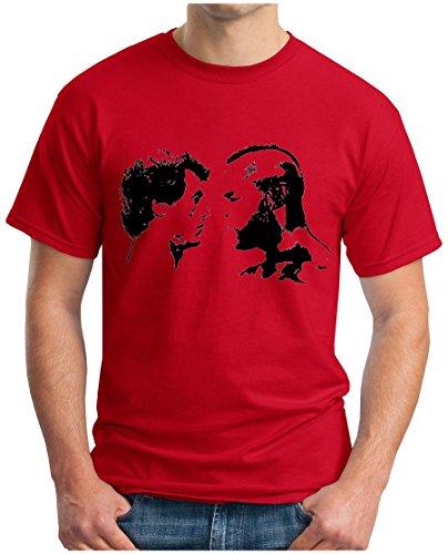 OM3 - ROCKY vs APOLLO - T-Shirt BALBOA CREED BOXER ITALIEN STALLION KULT SWAG EMO, S - 5XL Rot