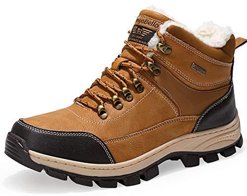 AX BOXING Winterstiefel Schneestiefel Warm Winterschuhe Stiefelette Outdoor Boots (43 EU, AA8493-Gelb)
