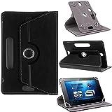 TGK® 360 Degree Rotating Leather Rotary Swivel Stand Case Cover For I Kall N4 7 Inch Tablet (Black)