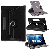 #3: TGK 360 Degree Rotating Leather Rotary Swivel Stand Case Cover for Lenovo Tab 4 10 Plus 10.1 inch Tablet (Black)