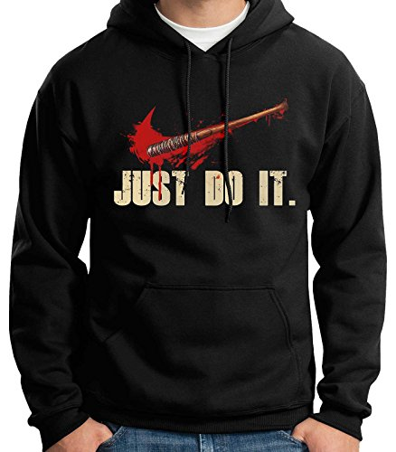 35mm - Sudadera con Capucha Just Do It- Lucille Negan The Walking Dead, Unisex, Negra