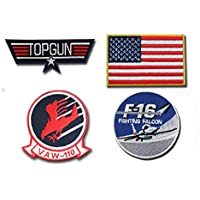 Maverick Top Gun costume Iron on Patch – Set