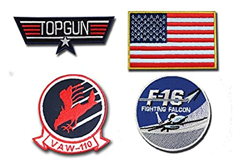 Déguisement top gun Maverick Fer Sur Patch – Lot