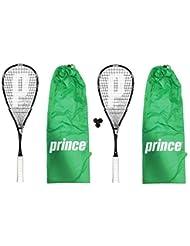 Prince Thunder Ultralite - Juego de 2 raquetas y 3 pelotas de squash