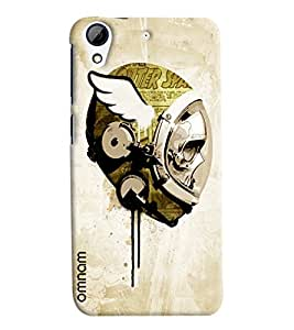 Omnam Skelton In Space Effect Printed Designer Back Cover Case For HTC Desire 728