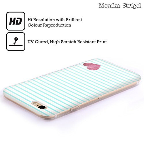 Offizielle Monika Strigel Rot Kleines Herz Soft Gel Hülle für Apple iPhone 5 / 5s / SE Minz Rot