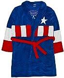 Marvel Avengers Peignoir pour hommes / Robe de chambre, Plusieurs personnages de super-héros (Bleu)