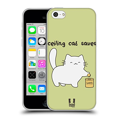 Head Case Designs What Other Cat Ceiling Cat Vs Basement Cat Soft Gel Back Case Cover for Apple iPhone 5 5s Ceiling Cat Saves